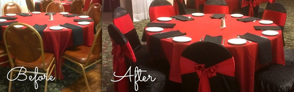 Before & After of one of our events